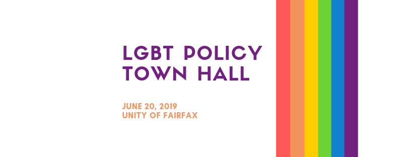 LGBT Policy Town Hall – June 20, 2019, Unity of Fairfax