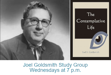 "Joel S. Goldsmith, and the cover of his book ""The Contemplative Life"""