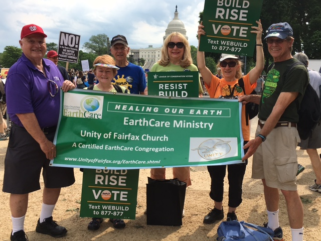 Earthcare Ministry members at the People's Climate Movement March in the     nation's capital.